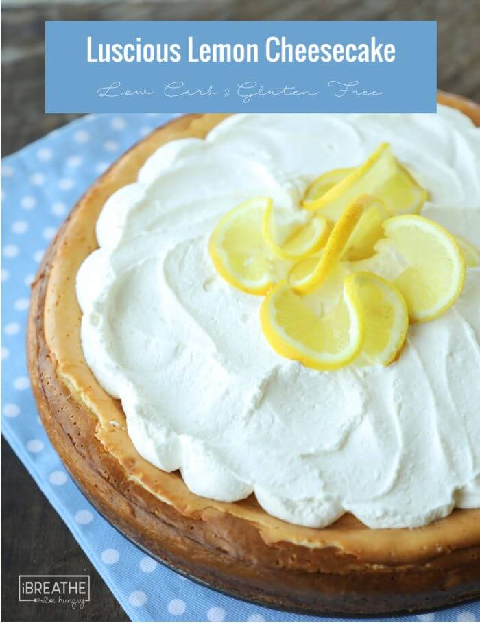 Easy Keto Lemon Cheesecake – Low Carb