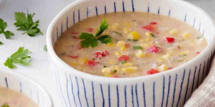 Easy Vegan Corn Chowder