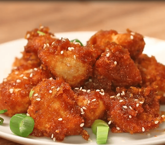 Sticky Garlic Chicken Bites