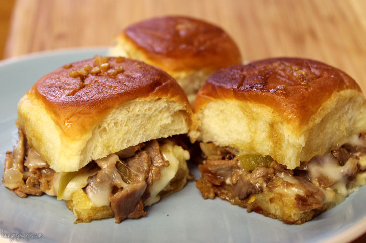 Instant Pot Philly Cheesesteak Sliders
